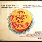 HAPPY BIRTHDAY WANDA JUNE Original 1/2- Sheet Movie Poster KURT VONNEGUT JR. '71