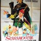 Gérard Barray The  Adventures of SCARAMOUCHE Huge ITALIAN Movie POSTER 1963