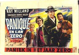 Panic in Year Zero Original BELGIUM Poster RAY MILLAND Frankie Avalon JEAN HAGEN