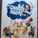CHARLEY AND THE ANGEL Original WALT DISNEY Drive-In POSTER Fred MacMurray 1973