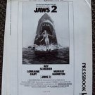 JAWS 2 Original Universal Studios Photo PRESSBOOK Shark ROY SCHEIDER AD Campaign