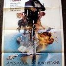 Ffolkes Original 1-SHEET Poster ROGER MOORE Anthony Perkins JAMES MASON Bond 007