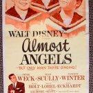 DISNEY Original ALMOST ANGELS Insert Movie POSTER Vienna Boys Choir PETER WECK