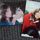 JACLYN SMITH Original CHARLIE'S ANGELS Postcard Set with POODLE and RABBIT 1970s