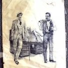 BIRNEY LETTICK Original Movie ARTWORK Front Page WALTER MATTHAU Jack Lemmon OOAK