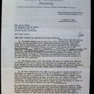 MARIA PALMER Original SIGNED AGENCY Autograph Contract 1951 MANNING O'CONNOR