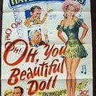 OH YOU BEAUTIFUL DOLL 1-Sheet Movie Poster JUNE HAVER Mark Stevens 1949 ORIGINAL