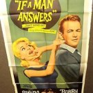 SANDRA DEE Bobby Darin IF A MAN ANSWERS Huge 3-Sheet Movie Poster 1962 GIANT