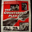 PEGGIE CASTLE The COUNTERFEIT PLAN Zachary Scott POSTER Juvenile Delinquent 1957
