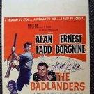 ALAN LADD The BADLANDERS Original WINDOW CARD Poster ERNEST BORGNINE Katy Jurado