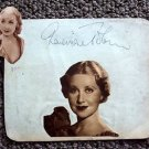 GENEVIEVE TOBIN Original  SIGNED in  PERSON Autograph Page from 1940's SCRAPBOOK