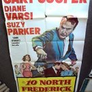 GARY COOPER Original TEN NORTH FREDERICK Vintage 3-SHEET Movie POSTER 1958   10