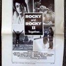 ROCKY Original NEWSPAPER AD SLICKS 1980 SYLVESTER STALLONE Talia Shire BOXING