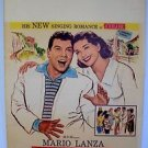MARIO LANZA For the First Time Movie WINDOW CARD Poster JOHANNA von KOCZIAN 1959