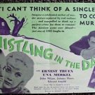 WHISTLING IN THE DARK Original Photo DAYBILL Ernest Truex UNA MERKEL M.G.M. 1933