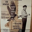 ROBERT TAYLOR The HOUSE OF SEVEN HAWKS 1-Sheet Movie POSTER Original 1959  7