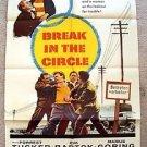 BREAK IN THE CIRCLE 1-Sheet Movie Poster FORREST TUCKER Eva Bartok 1955 ORIGINAL