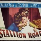 ALEXIS SMITH Original STALLION ROAD Lobby Card RONALD REAGAN Warner Bros 1947