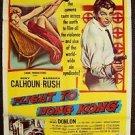FLIGHT TO HONG KONG 1-Sheet Movie Poster RORY CALHOUN Barbara Rush 1956 ORIGINAL
