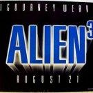 ALIEN 3 British UK Quad POSTER Sigourney Weaver 1992 Original ENGLAND Sci-Fi