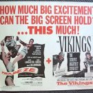 TRAPEZE The VIKINGS 1/2- Sheet Original Movie Poster TONY CURTIS Kirk Douglas