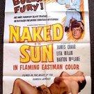 NAKED IN THE SUN  Original 1-Sheet Movie Poster 1957  James Craig LITA MILAN