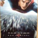 MAN OF STEEL Original SUPERMAN Movie POSTER Henry Cavill DOUBLE SIDED Clark Kent