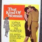 SOPHIA LOREN Tab Hunter Original THAT KIND OF WOMAN Window Card MOVIE Poster '58
