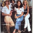 CHARLIE'S ANGELS Japan POSTER Farrah Fawcett CHERYL LADD Kate Jackson JACLYN '78