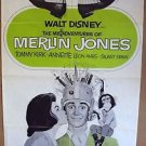 ANNETTE FUNICELLO Misadventures of Merlin Jones 1-Sheet POSTER Tommy Kirk DISNEY