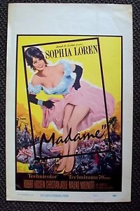 SOPHIA LOREN Original MADAME Sans-Gêne ORIGINAL  Window Card  MOVIE Poster 1962