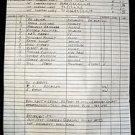 Last Hours Before Morning CALL SHEET Victoria Principle ED LAUTER Original 1975