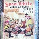 SNOW WHITE and the SEVEN DWARFS Disney 1938 Whitman PUZZLE Box VINTAGE Art WALT