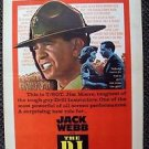 JACK WEBB The D.I. Original WINDOW CARD Marine Drill Sergeant DI Warner Bros.