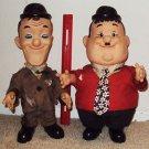 LAUREL & HARDY Set Vinyl FIGURES Stan and Oliver LARRY HARMON Dolls HAL ROACH