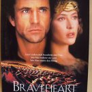 BRAVEHEART Original MEL GIBSON Sophie Marceau Movie POSTER Germany German 1995