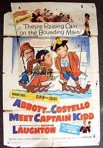 Abbott and Costello Meet Captain Kidd ORIGINAL 1-Sheet POSTER Bud & Lou 1952