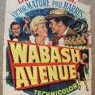 BETTY GRABLE Original WABASH AVENUE Victor Mature 1-Sheet POSTER Phil Harris '50