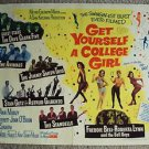 GET YOURSELF A COLLEGE GIRL 1/2 Sheet POSTER Mary Ann Mobley NANCY SINATRA 1964