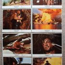 RAMBO First Blood PART II Original LOBBY CARD Set SYLVESTER STALLONE Shirtless 2