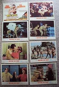 NEVER SO FEW Original FRANK SINATRA Gina Lollobrigida LOBBY CARD Photo Set of 8