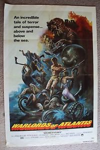 WARLORDS OF ATLANTIS Original 1-Sheet Movie POSTER Doug McClure the DEEP 1978