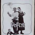 POPEYE Original Photo PRESSBOOK Robin Williams SHELLEY DUVALL Paramount Pictures