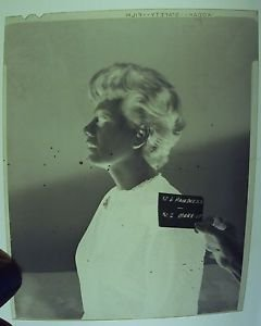 SHELLEY WINTERS Original HAIR Make-up Test  NEGATIVE WARNER BROS STUDIOS 1966
