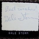 GALE STORM Original Signed in Person AUTOGRAPH  Card  MY LITTLE MARGIE