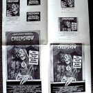 CREEPSHOW Original Newspaper Photo LAYOUT Ad Press SLICKS Stephen King SKELETON