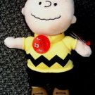 PEANUTS Musical CHARLIE BROWN Doll TY Stuffed BEANIE BABIE PLUSH Charles Schulz