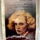 FRANCES Original JESSICA LANGE Drive-In Movie POSTER Academy Award ROUGH SHAPE