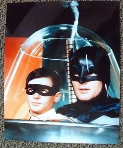 BATMAN Color ADAM WEST Burt Ward ROBIN & BRUCE WAYNE Photo D.C. Comic Super Hero