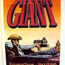 GIANT Original JAMES DEAN Poster Cowboy Western BOOTS Convertible STETSON hat